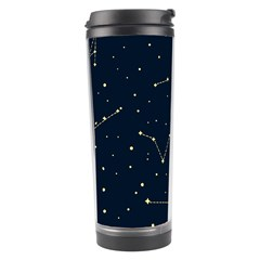 Star Zodiak Space Circle Sky Line Light Blue Yellow Travel Tumbler by Mariart