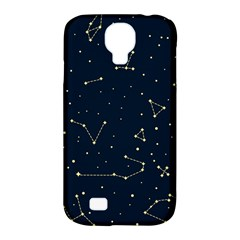 Star Zodiak Space Circle Sky Line Light Blue Yellow Samsung Galaxy S4 Classic Hardshell Case (pc+silicone) by Mariart