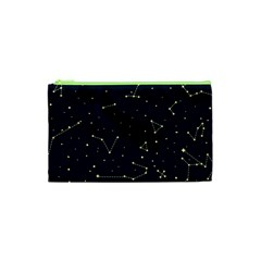 Star Zodiak Space Circle Sky Line Light Blue Yellow Cosmetic Bag (xs) by Mariart