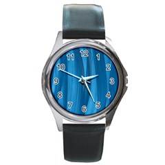 Abstraction Round Metal Watch by Valentinaart