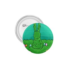 Rabbit Easter Green Blue Egg 1 75  Buttons by Mariart