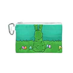 Rabbit Easter Green Blue Egg Canvas Cosmetic Bag (s) by Mariart
