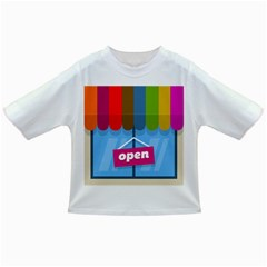 Store Open Color Rainbow Glass Orange Red Blue Brown Green Pink Infant/toddler T Shirts by Mariart