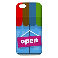 Store Open Color Rainbow Glass Orange Red Blue Brown Green Pink Apple Iphone 5 Premium Hardshell Case by Mariart