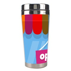 Store Open Color Rainbow Glass Orange Red Blue Brown Green Pink Stainless Steel Travel Tumblers by Mariart