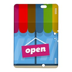 Store Open Color Rainbow Glass Orange Red Blue Brown Green Pink Kindle Fire Hdx 8 9  Hardshell Case by Mariart
