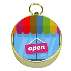 Store Open Color Rainbow Glass Orange Red Blue Brown Green Pink Gold Compasses by Mariart