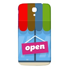 Store Open Color Rainbow Glass Orange Red Blue Brown Green Pink Samsung Galaxy Mega I9200 Hardshell Back Case