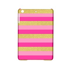 Pink Line Gold Red Horizontal Ipad Mini 2 Hardshell Cases by Mariart