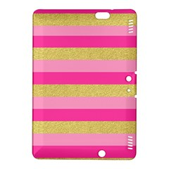 Pink Line Gold Red Horizontal Kindle Fire Hdx 8 9  Hardshell Case by Mariart