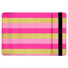 Pink Line Gold Red Horizontal Ipad Air 2 Flip by Mariart