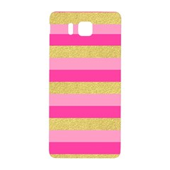 Pink Line Gold Red Horizontal Samsung Galaxy Alpha Hardshell Back Case by Mariart
