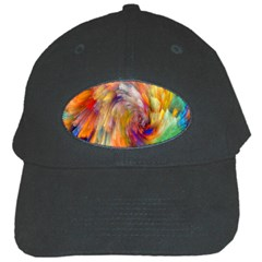 Rainbow Color Splash Black Cap by Mariart