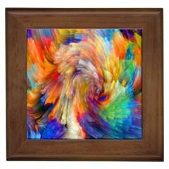 Rainbow Color Splash Framed Tiles