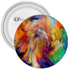 Rainbow Color Splash 3  Buttons by Mariart