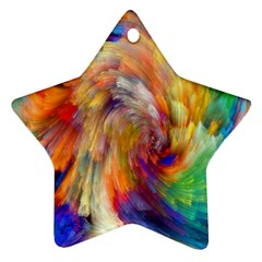 Rainbow Color Splash Ornament (star) by Mariart