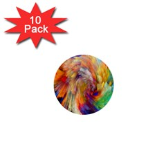 Rainbow Color Splash 1  Mini Buttons (10 Pack)  by Mariart