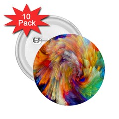 Rainbow Color Splash 2 25  Buttons (10 Pack)  by Mariart
