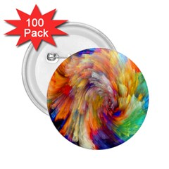 Rainbow Color Splash 2 25  Buttons (100 Pack)  by Mariart