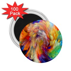 Rainbow Color Splash 2 25  Magnets (100 Pack)  by Mariart