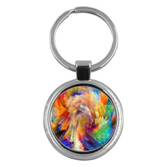 Rainbow Color Splash Key Chains (round)  by Mariart