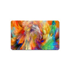 Rainbow Color Splash Magnet (name Card) by Mariart