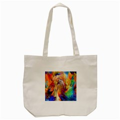 Rainbow Color Splash Tote Bag (cream) by Mariart
