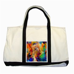 Rainbow Color Splash Two Tone Tote Bag by Mariart