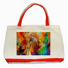 Rainbow Color Splash Classic Tote Bag (red) by Mariart