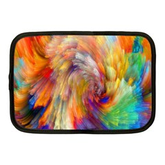 Rainbow Color Splash Netbook Case (medium)  by Mariart