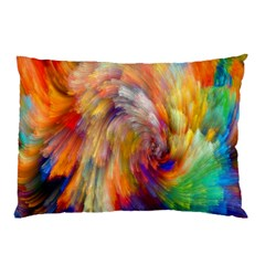 Rainbow Color Splash Pillow Case by Mariart