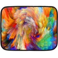 Rainbow Color Splash Fleece Blanket (mini) by Mariart