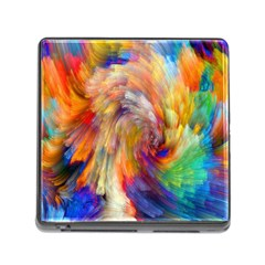 Rainbow Color Splash Memory Card Reader (square) by Mariart