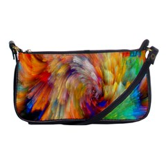 Rainbow Color Splash Shoulder Clutch Bags by Mariart