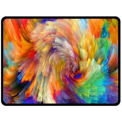 Rainbow Color Splash Fleece Blanket (large)  by Mariart