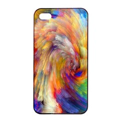 Rainbow Color Splash Apple Iphone 4/4s Seamless Case (black) by Mariart