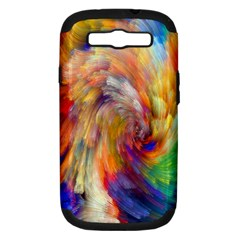Rainbow Color Splash Samsung Galaxy S Iii Hardshell Case (pc+silicone) by Mariart