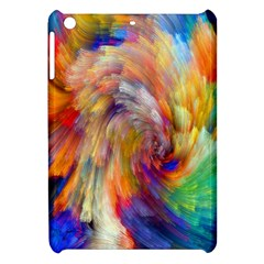 Rainbow Color Splash Apple Ipad Mini Hardshell Case by Mariart