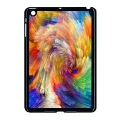 Rainbow Color Splash Apple Ipad Mini Case (black) by Mariart