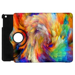 Rainbow Color Splash Apple Ipad Mini Flip 360 Case by Mariart