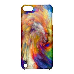 Rainbow Color Splash Apple Ipod Touch 5 Hardshell Case With Stand by Mariart