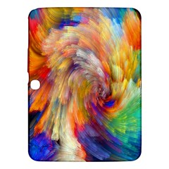 Rainbow Color Splash Samsung Galaxy Tab 3 (10 1 ) P5200 Hardshell Case  by Mariart