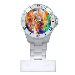 Rainbow Color Splash Plastic Nurses Watch by Mariart