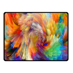 Rainbow Color Splash Double Sided Fleece Blanket (small)  by Mariart