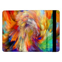 Rainbow Color Splash Samsung Galaxy Tab Pro 12 2  Flip Case by Mariart