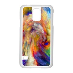Rainbow Color Splash Samsung Galaxy S5 Case (white) by Mariart