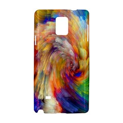 Rainbow Color Splash Samsung Galaxy Note 4 Hardshell Case by Mariart