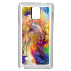 Rainbow Color Splash Samsung Galaxy Note 4 Case (white) by Mariart