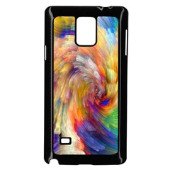 Rainbow Color Splash Samsung Galaxy Note 4 Case (black) by Mariart