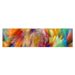 Rainbow Color Splash Satin Scarf (oblong) by Mariart